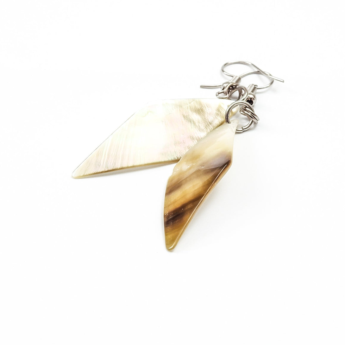 ethical earrings - philippines mother of pearl