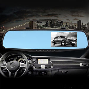 Hd Rearview Mirror With Single And Double Camera Lens