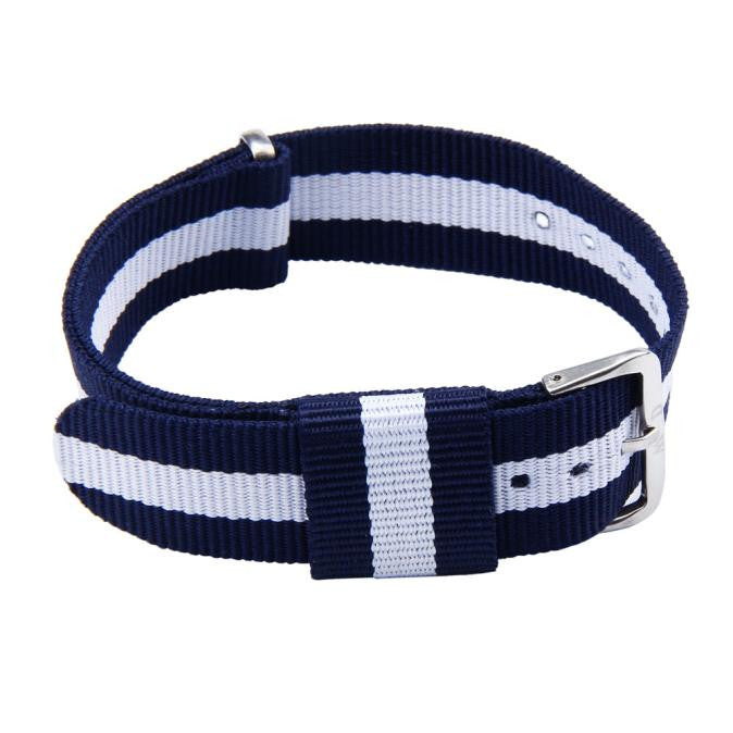 20MM Blue and White Canvas Strap - MW Company