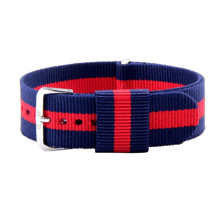 20MM Red and Blue Canvas Strap - MW Company