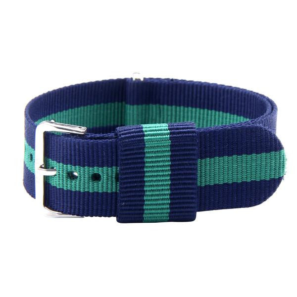 20MM Blue and Green Canvas Strap - MW Company