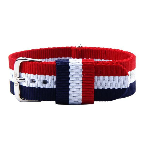20 MM Blue White & Red Canvas Strap - MW Company