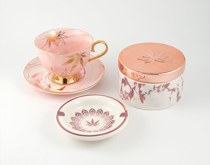 Fashionably High Tea Cup Storage Stash Ashtray