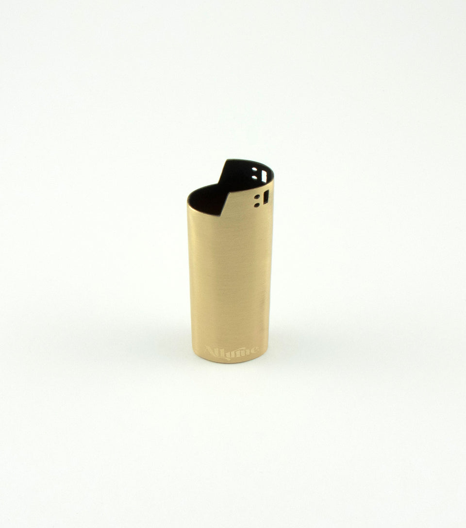 Allume bronze metal bic lighter case.