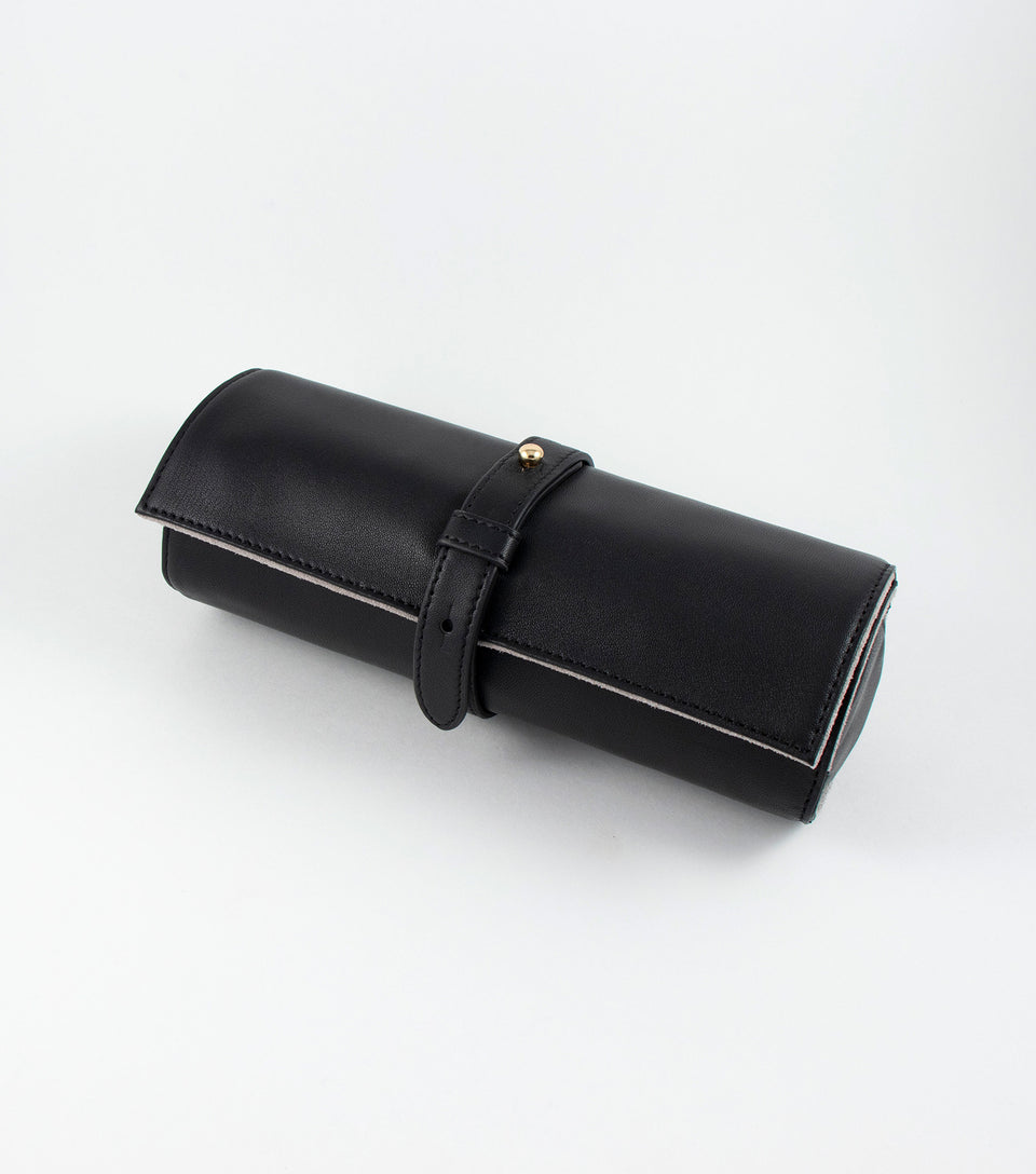 Black leather case for cannabis vaporizer.
