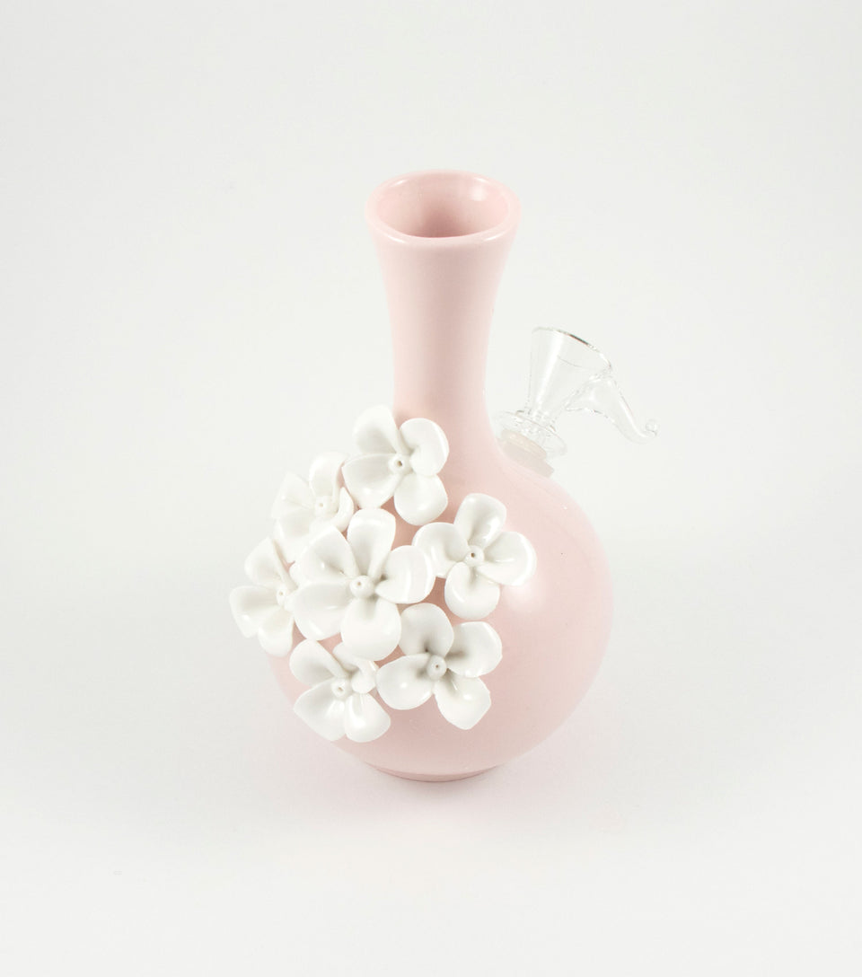 Ceramic bong cannabis accessories for women.