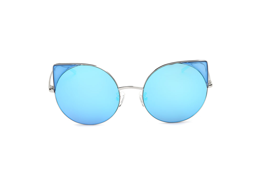 Women Round Cat Eye Sunglasses - giftsvistas.com