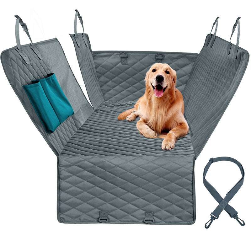 Waterproof Dog Car Seat Cover And Pet Carrier Cushion Protector With Zipper And Pockets