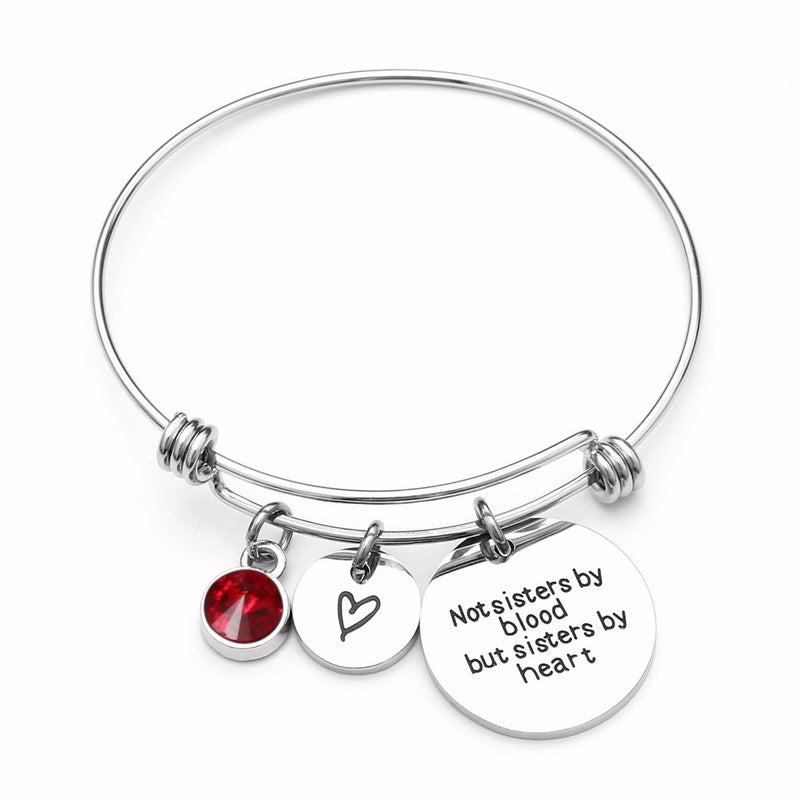 Best Friend Birthday Gift Birthstone Charm Bracelet for Women - giftsvistas.com