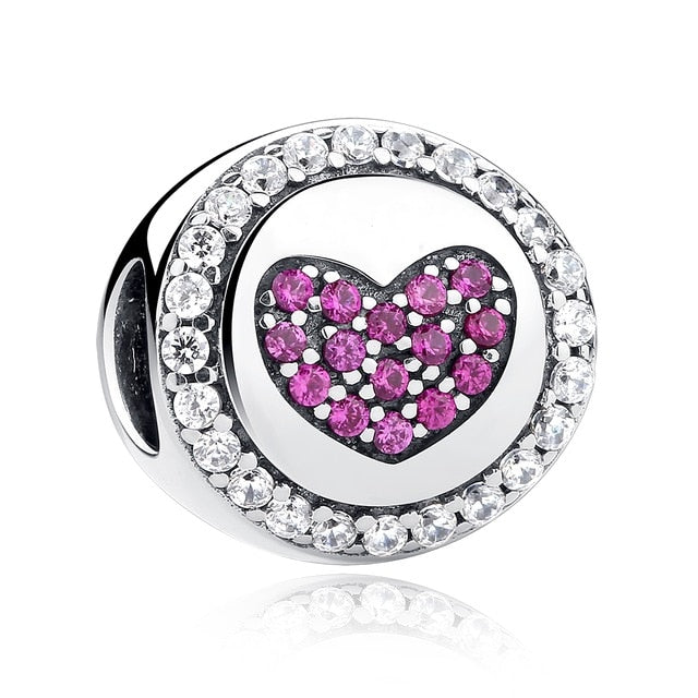 925 Sterling Silver Full Of Love Heart Bead - giftsvistas.com