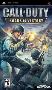 Call of Duty Roads to Victory Sony Playstation Portable PSP Video Game