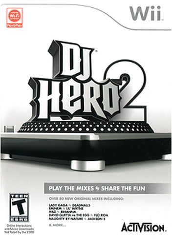 DJ Hero 2 Nintendo Wii Video Game