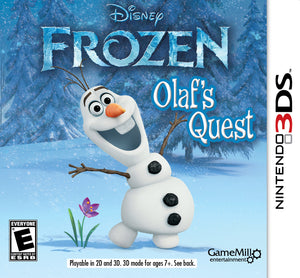 Frozen Olaf's Quest Nintendo 3DS video Game