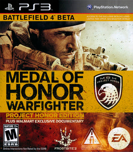Medal of Honor Warfighter Project Honor Edition Sony Playstation 3 PS3 Video Game