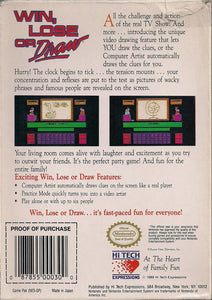 Win, Lose or Draw Nintendo NES Video Game Cartridge
