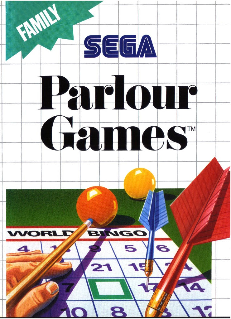 Parlour Games Sega Master System Video Game
