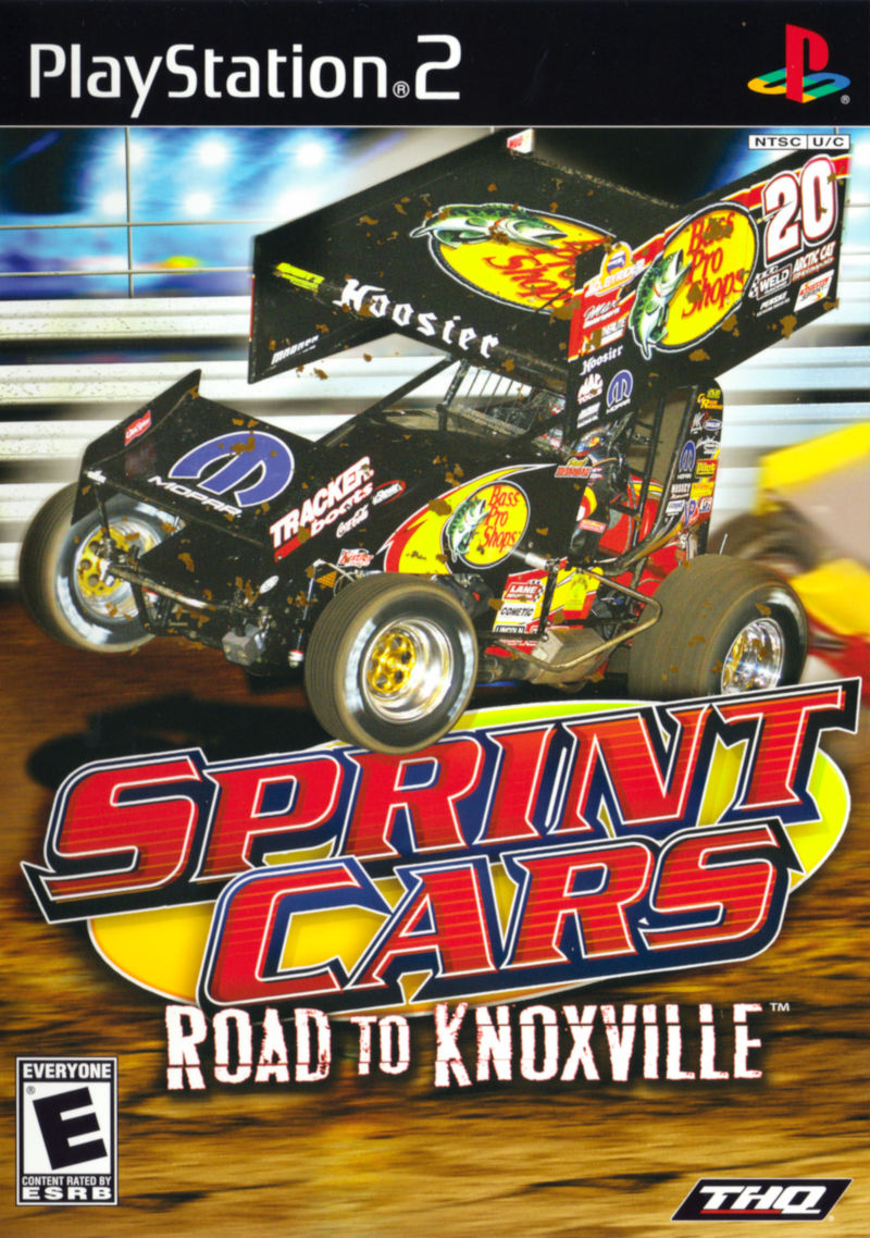Sprint Cars Road to Knoxville Sony Playstation 2 PS2 Video Game