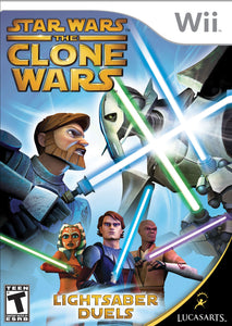 Star Wars The Clone Wars Lightsaber Duels Nintendo Wii Video Game