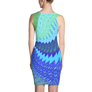 Psychedelic Swirl Contour Dress