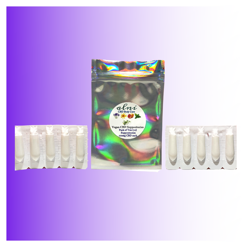 *NEW* 10-Pack Cocoa Butter 100mg CBD Each Suppositories - Cramps, Pelvic Pain, Painful Intercourse