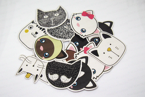 Cat Face Sticker Pack (45pcs)