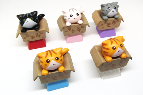 Takeout Kitty Keycaps