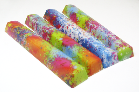 Splatter Spacebar Keycaps