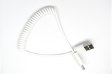 [Coiled] White, MicroUSB