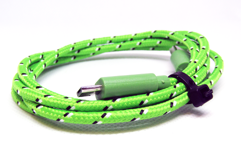 [Value] Green Striped, MicroUSB