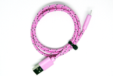 [Value] Pink Striped, MicroUSB