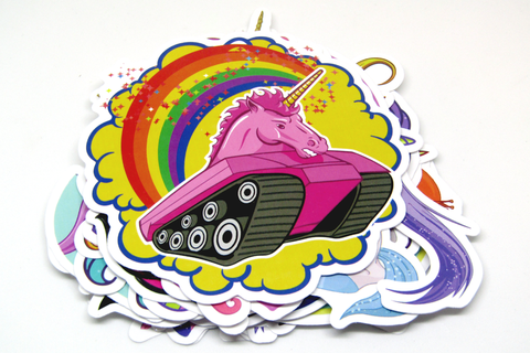 Sticker Bomb Pack: Rainbows & Unicorns