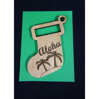 2019 Aloha Christmas Stocking Ornament
