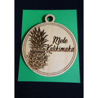 Mele Kalikimaka Pineapple with Lights Ornament