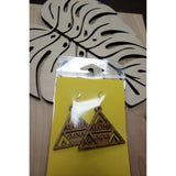 Aloha `Aina Triangle Solid Koa Wood Earrings
