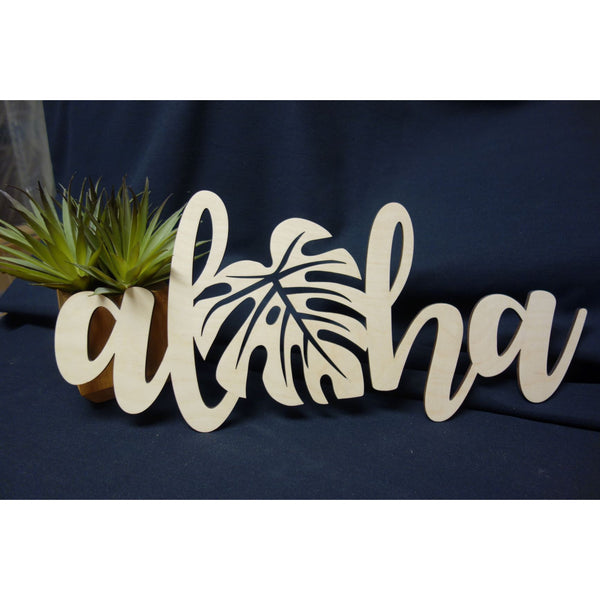 "Aloha Monstera Decorative Piece, 18"" Medium"