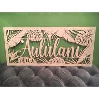 *CUSTOM ORDER* Tropical Family Name Plaque, Long