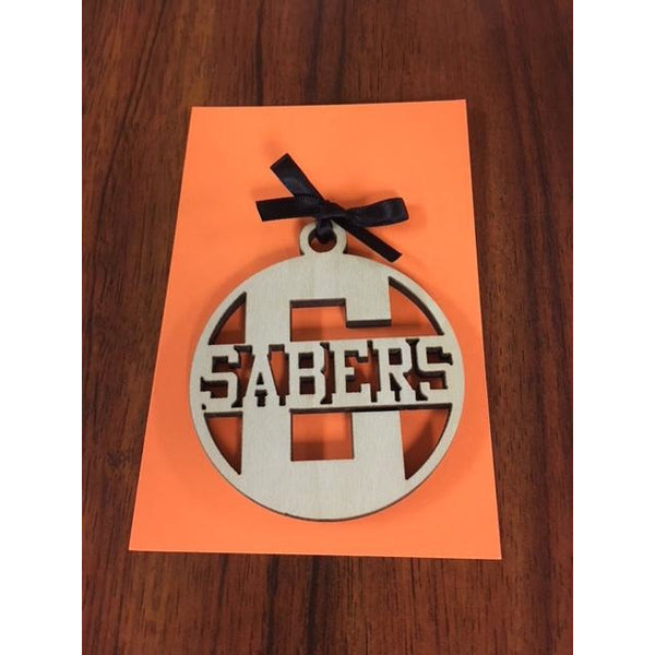 Campbell Sabers School Ornament