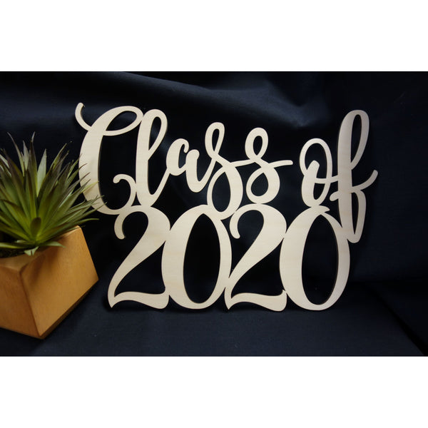 Class Of 2020 Wood Sign