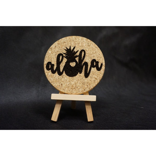 Aloha Pineapple Cork Coaster