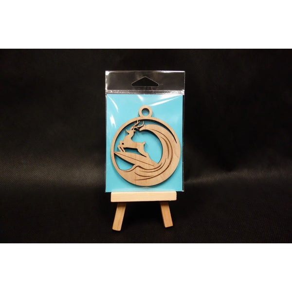 Christmas Surfing Reindeer Ornament