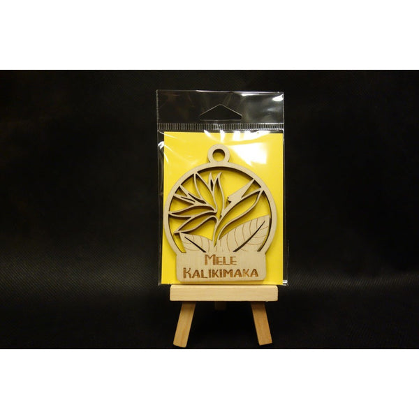 Mele Kalikimaka Bird of Paradise Christmas Ornament