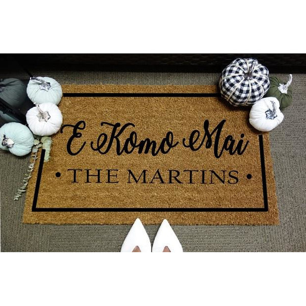 E Komo Mai *Customizable* Door Mat