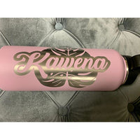 *CUSTOM ORDER* Etched Name or Logo on Flask