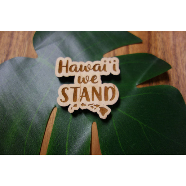 Hawaii We Stand Island Chain Magnet