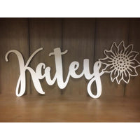 *CUSTOM ORDER* Wood cut names, MEDIUM
