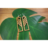 Koa Wood Stripe Earrings