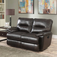 Gunther Top Grain Leather Reclining Love Seat