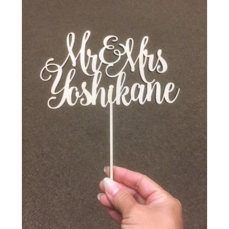 CUSTOM Names Wood Cake Topper