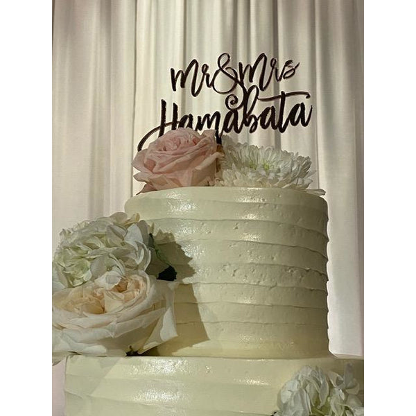 CUSTOM Names Acrylic Cake Topper
