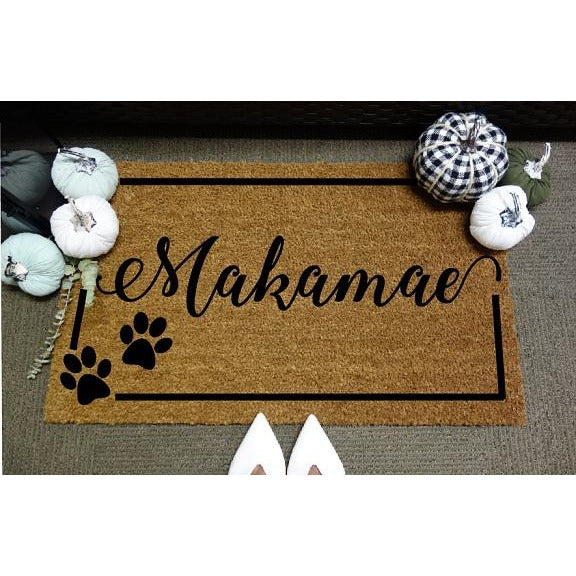 Paw Prints *Customizable* Door Mat